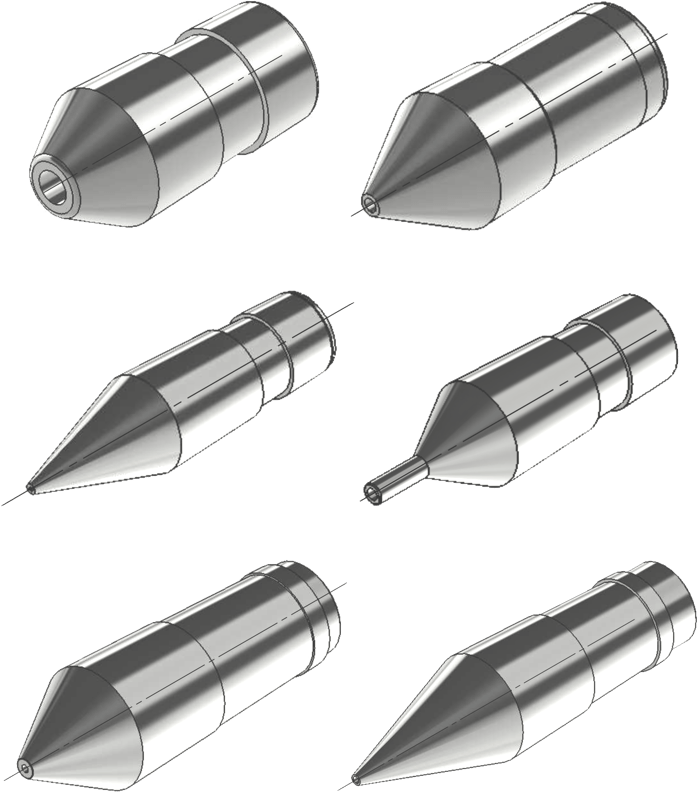Esteves extrusion tip examples