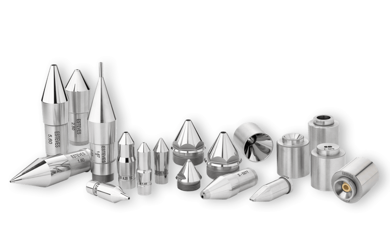 Esteves extrusion tooling tip, dies, and guides
